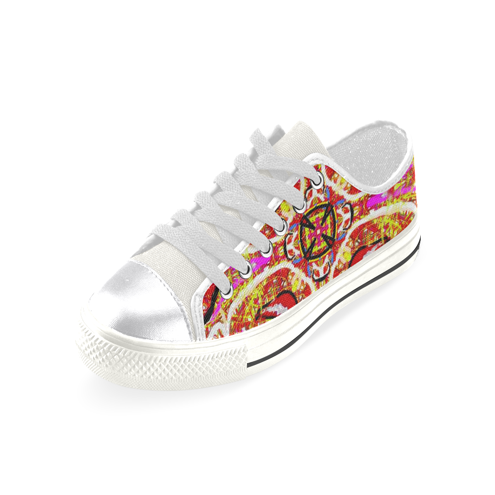 Thleudron Women's New York Women's Classic Canvas Shoes (Model 018)