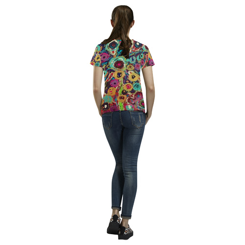 garden party 1 All Over Print T-Shirt for Women (USA Size) (Model T40)