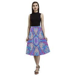 Thleudron Women's Milky Way Aoede Crepe Skirt (Model D16)