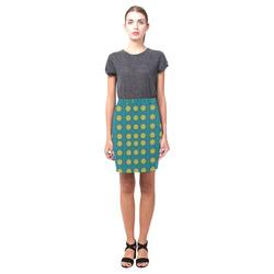 Sunshine mandalas on blue Nemesis Skirt (Model D02)