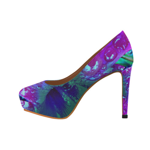 Stiletto Hibuscus Blue by Martina Webster Women's High Heels (Model 044)