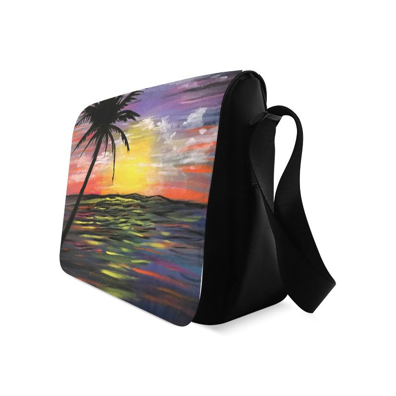 Sunset Sea Messenger Bag (Model 1628)