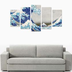 Great Wave Off Kanagawa Hokusai Canvas Print Sets A (No Frame)