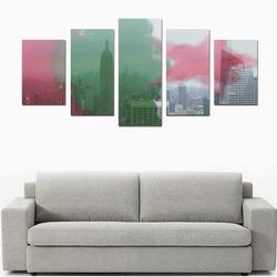 NYC Algeria Panorama Canvas Print Sets D (No Frame)