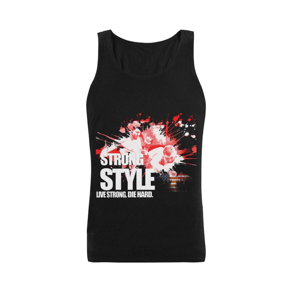 Strong Style Men's Shoulder-Free Tank Top (Model T33)