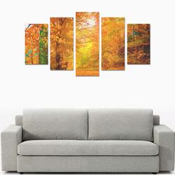 Vermont Autumn Nature Landscape Canvas Print Sets A (No Frame)