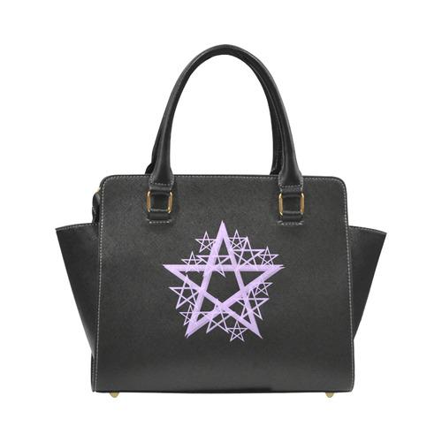 Purple Pentacle Rivit Shoulder Bag Rivet Shoulder Handbag (Model 1645)