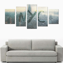 Rainy Day in NYC Canvas Print Sets D (No Frame)