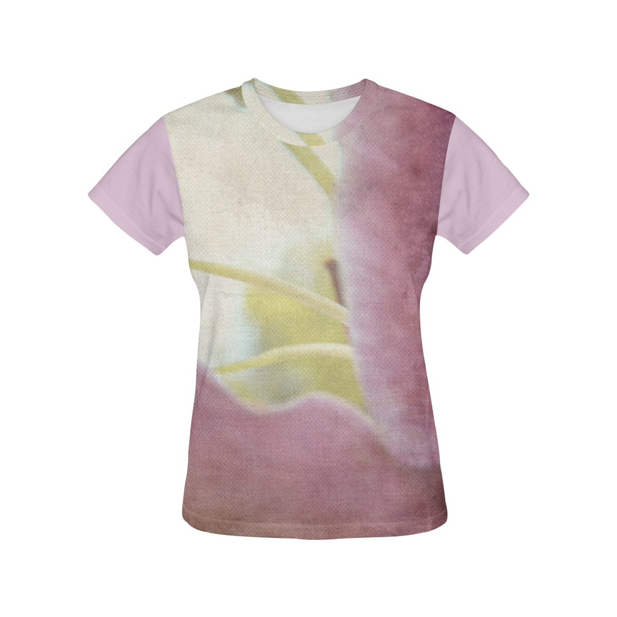 Artistic Pink Lily All Over Print T-Shirt for Women (USA Size) (Model T40)