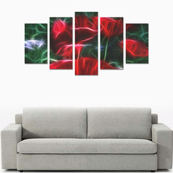Wonderful Poppies In Summertime Canvas Print Sets A (No Frame)
