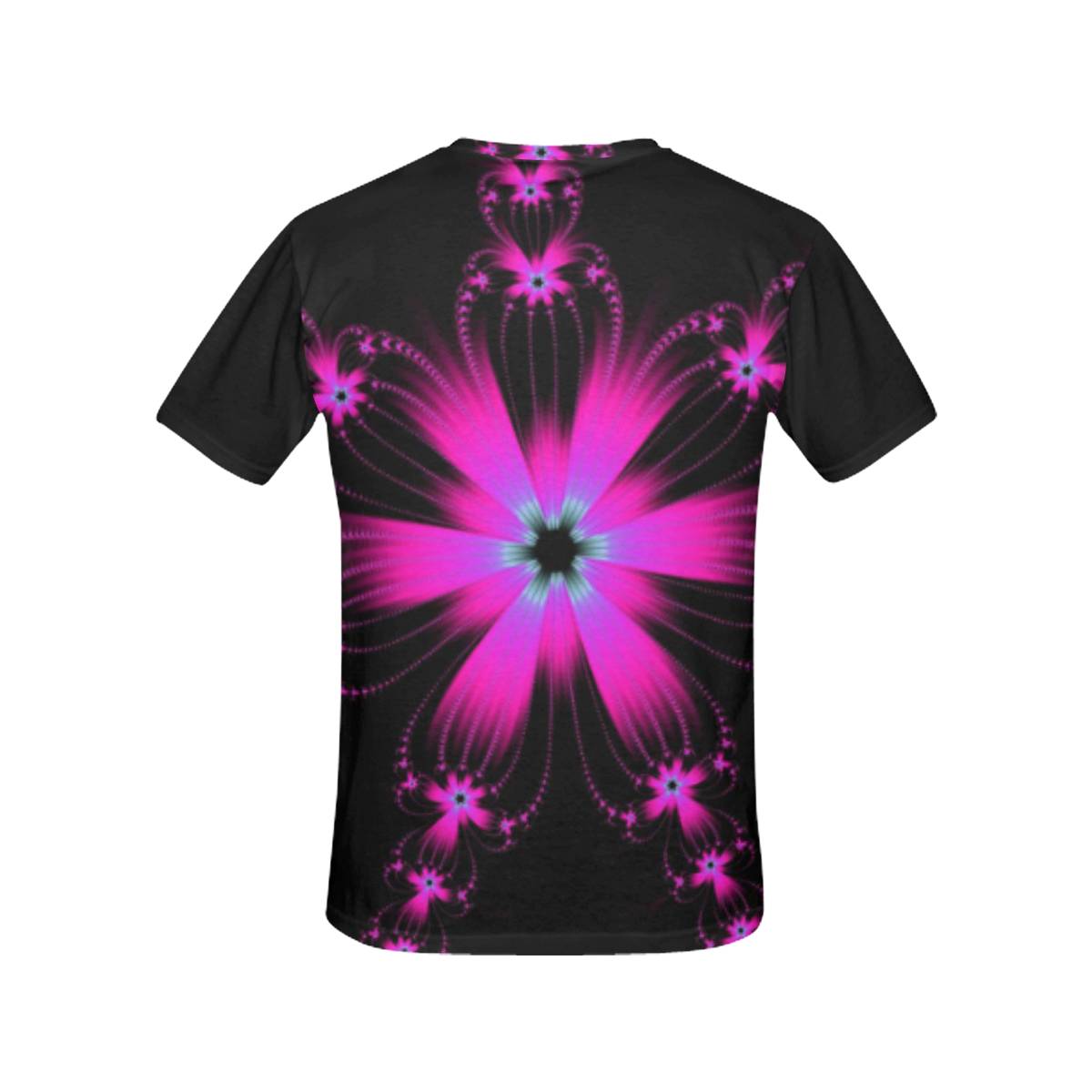 Pink Flower Burst All Over Print T-Shirt for Women (USA Size) (Model T40)