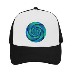 POWER SPIRAL - WAVES blue green Trucker Hat