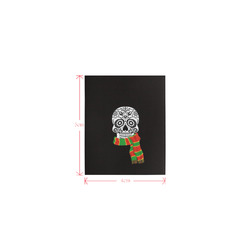 funny skull with scarf Logo for Men&Kids Clothes (4cm X 5cm)