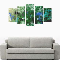 blue and green abstract Canvas Print Sets A (No Frame)