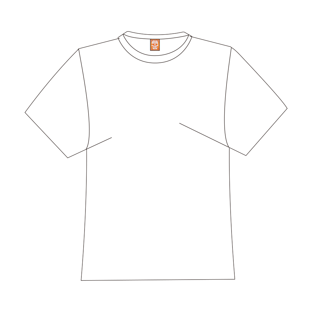 Trendy Skull,orange by JamColors Logo for Men&Kids Clothes (4cm X 5cm)