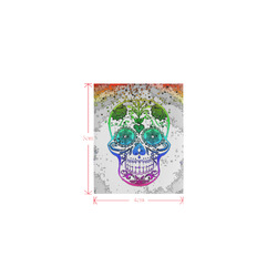 psychedelic Pop Skull 317E by JamColors Logo for Men&Kids Clothes (4cm X 5cm)