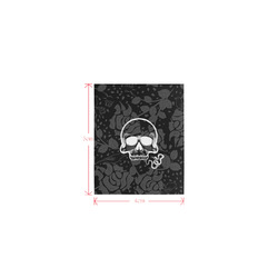 Damasc Skull with Snake by JamColors Logo for Men&Kids Clothes (4cm X 5cm)