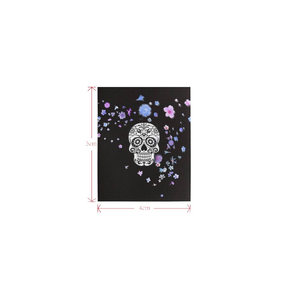 skull with flower shower Logo for Men&Kids Clothes (4cm X 5cm)