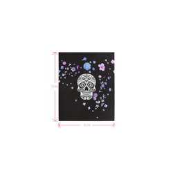 skull with flower shower Logo for Men&Kids Clothes (4cm X 5cm)