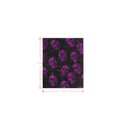 sparkling glitter skulls puprle by JamColors Logo for Men&Kids Clothes (4cm X 5cm)