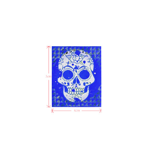 Trendy Skull,inky blue by JamColors Logo for Men&Kids Clothes (4cm X 5cm)