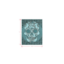 Trendy Skull, teal by JamColors Logo for Men&Kids Clothes (4cm X 5cm)