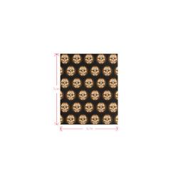 Sugarskull Pattern, golden by JamColors Logo for Men&Kids Clothes (4cm X 5cm)