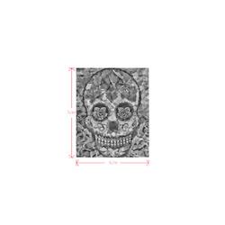 Polygon Skull black white Logo for Men&Kids Clothes (4cm X 5cm)