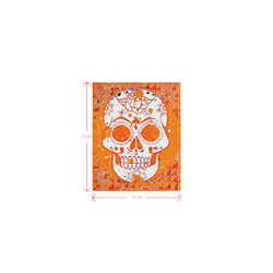 Trendy Skull,orange by JamColors Logo for Men&Kids Clothes (4cm X 5cm)
