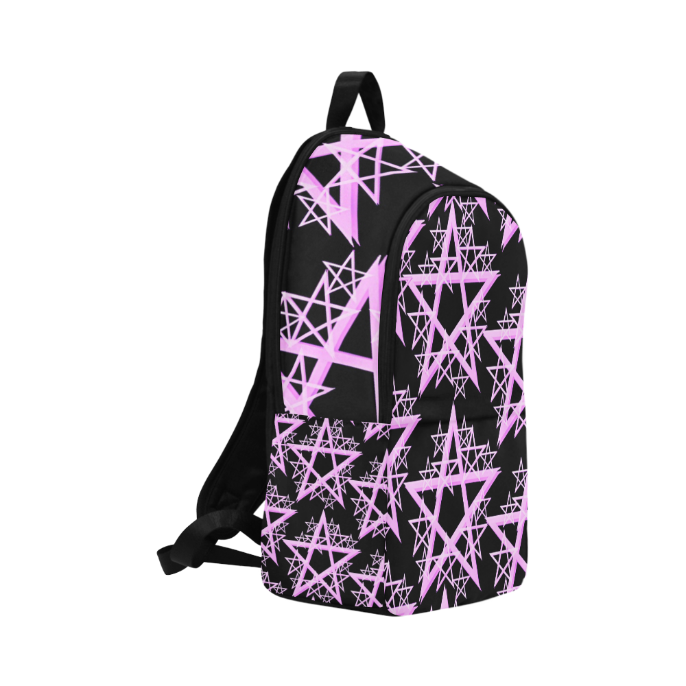 Purple Pentacle Backpack Fabric Backpack for Adult (Model 1659)