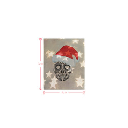 Christmas skull with star bokeh Logo for Men&Kids Clothes (4cm X 5cm)
