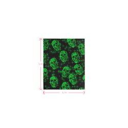 sparkling glitter skulls green by JamColors Logo for Men&Kids Clothes (4cm X 5cm)