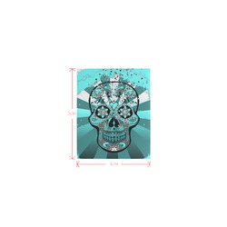 psychedelic Pop Skull 317L by JamColors Logo for Men&Kids Clothes (4cm X 5cm)