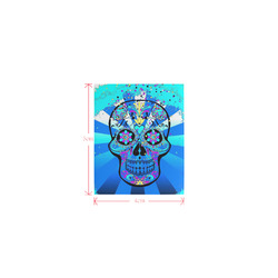 psychedelic Pop Skull 317B by JamColors Logo for Men&Kids Clothes (4cm X 5cm)