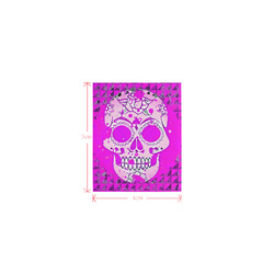 Trendy Skull,hot pink by JamColors Logo for Men&Kids Clothes (4cm X 5cm)