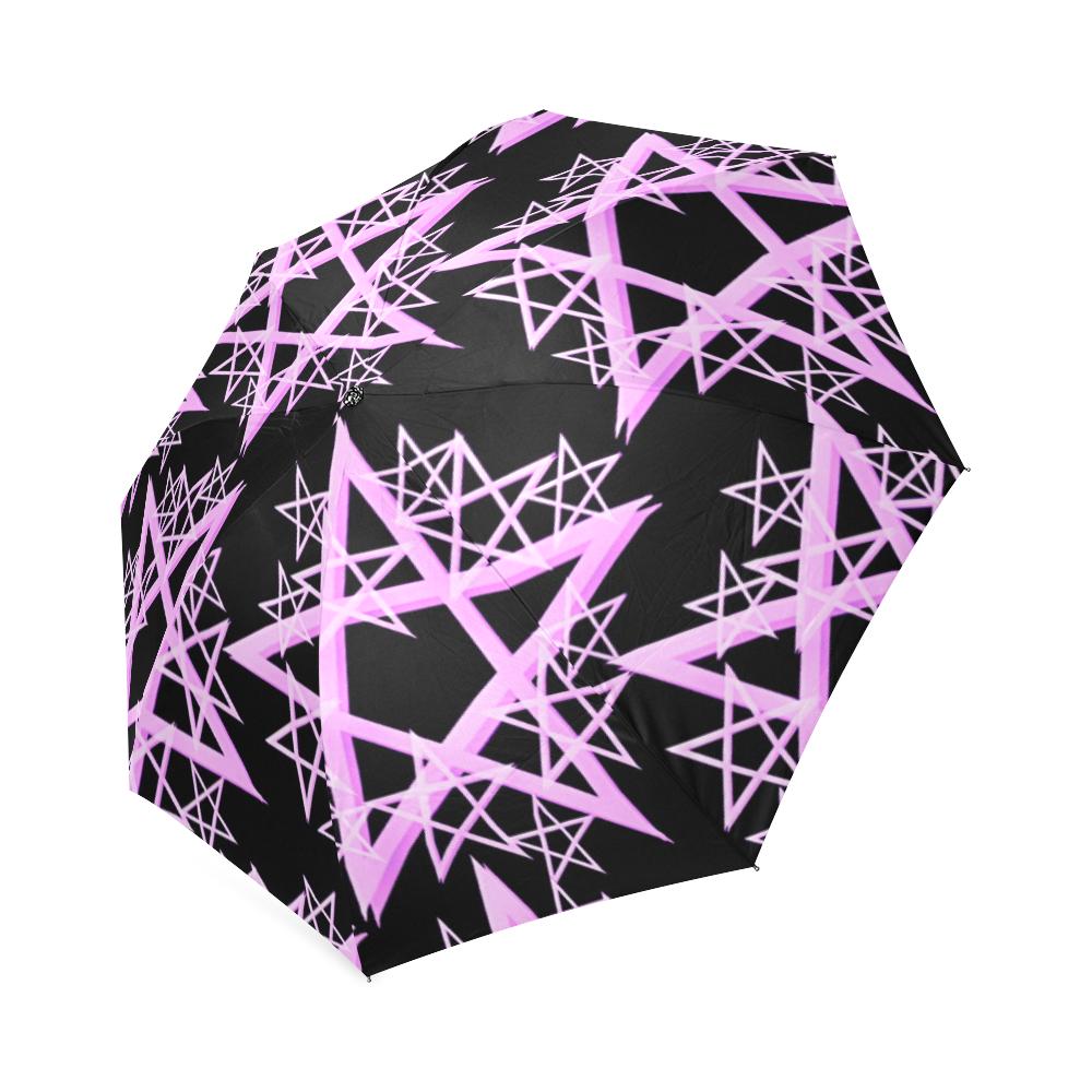 Purple Pentacle Umbrella Foldable Umbrella (Model U01)