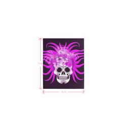hippie skull,pink Logo for Men&Kids Clothes (4cm X 5cm)