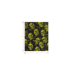 sparkling glitter skulls yellow by JamColors Logo for Men&Kids Clothes (4cm X 5cm)