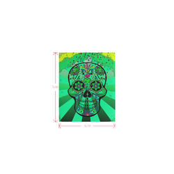 psychedelic Pop Skull 317C by JamColors Logo for Men&Kids Clothes (4cm X 5cm)
