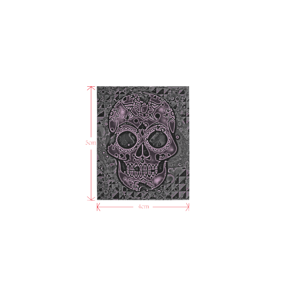 skull pink Logo for Men&Kids Clothes (4cm X 5cm)