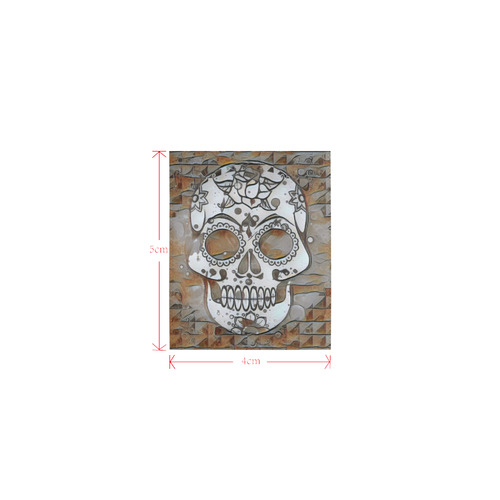 funky Skull B by Jamcolors Logo for Men&Kids Clothes (4cm X 5cm)