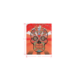 psychedelic Pop Skull 317I by JamColors Logo for Men&Kids Clothes (4cm X 5cm)