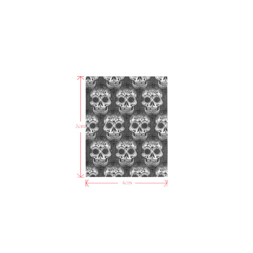new skull allover pattern by JamColors Logo for Men&Kids Clothes (4cm X 5cm)
