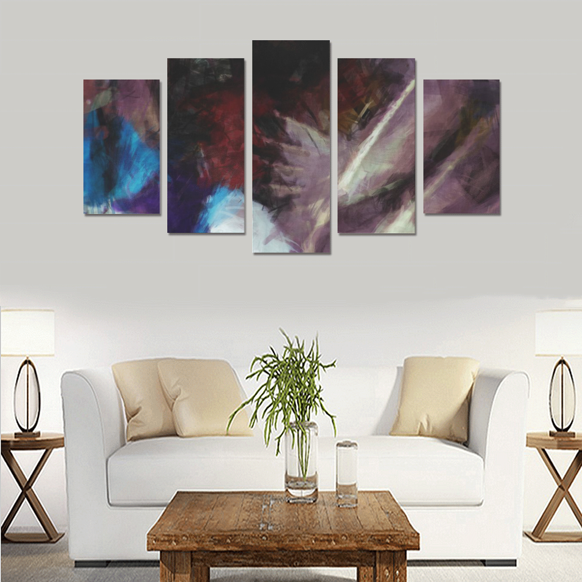 Feathers abstract Canvas Print Sets A (No Frame)