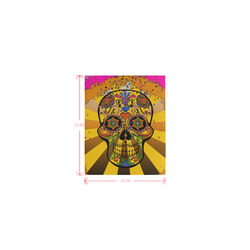 psychedelic Pop Skull 317A by JamColors Logo for Men&Kids Clothes (4cm X 5cm)