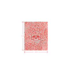 Mosaic Skull with Snake E by JamColors Logo for Men&Kids Clothes (4cm X 5cm)