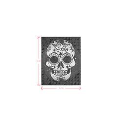black and white Skull Logo for Men&Kids Clothes (4cm X 5cm)
