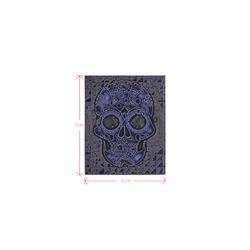 skull blue Logo for Men&Kids Clothes (4cm X 5cm)