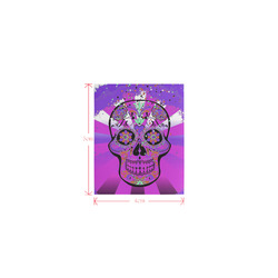 psychedelic Pop Skull 317J by JamColors Logo for Men&Kids Clothes (4cm X 5cm)