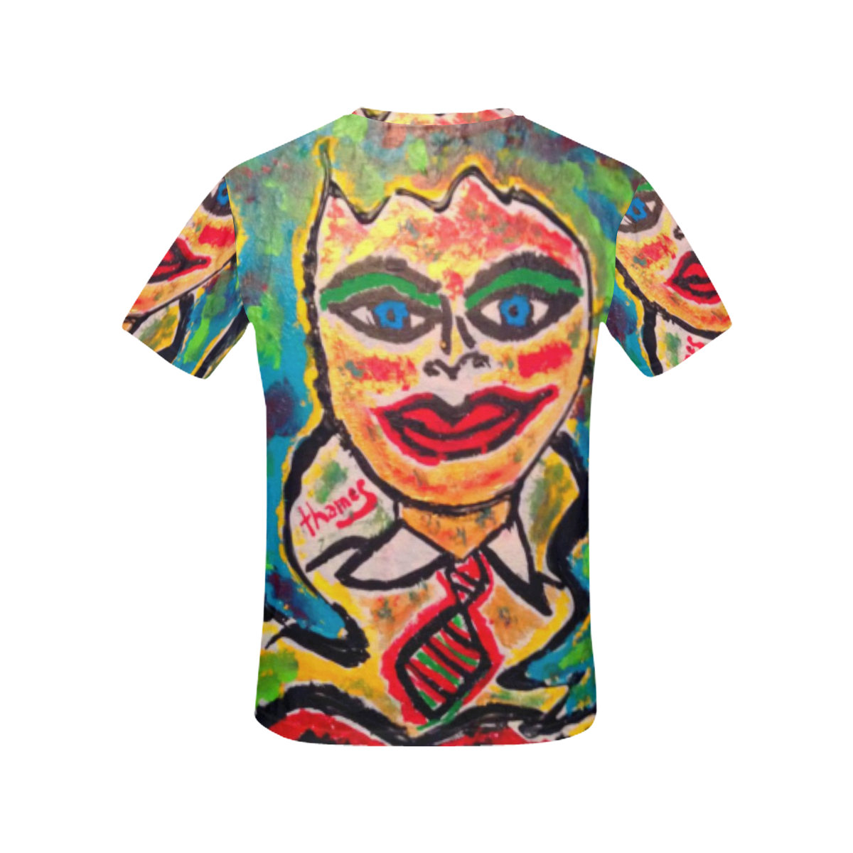 The Waitress All Over Print T-Shirt All Over Print T-Shirt for Women (USA Size) (Model T40)